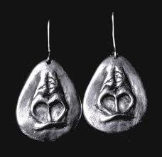 gorilla snout earrings <3