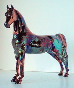 Gorgeous ceramic horse ... and from my home town ...Raku Porcelain Ceramic Model Horse One of A by lakeshorecollection, $170.00