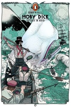 Moby Dick #Penguin #Audiobooks #bookcover #book #cover