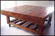gorgeous pallet coffee table.