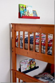 Kids' Room DIY: Easy & Colorful Book Ledges!