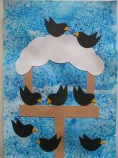 Krmítko s ptáčky - zima Christmas Crafts For Kids To Make, Christmas Art, January Crafts, Winter Art Projects, Bird Crafts, Winter Kids, Elementary Art, Preschool Crafts, Verona