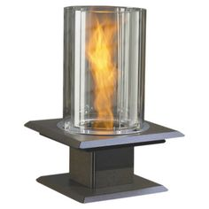Sedona Tabletop Fireplace in Silver