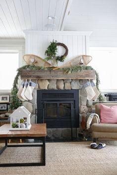 Canadian Cottage Christmas Living Room | via Ashlea of This Mamas Dance