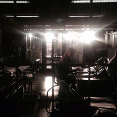 #Castle BTS 14: Goodnight Precinct.