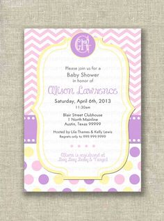 Hey, I found this really awesome Etsy listing at https://www.etsy.com/listing/152390320/baby-girl-shower-invitation-invite