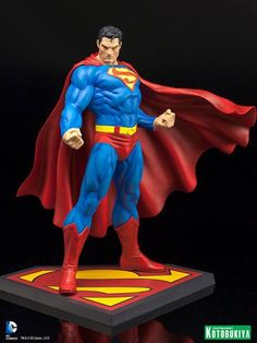 Crunchyroll - Store - DC Comics Superman for Tomorrow ARTFx Statue Batman Y Superman, Superman Man Of Steel, Superman Stuff, Comic Book Rooms, Comic Books Art, Comic Character, Character Design, Action Comics 1, Anime Figurines