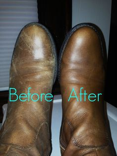 How to bring leather shoes back to life and remove dryness and scratches.