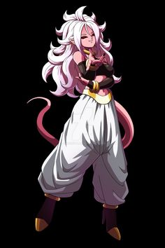Android 21 character art from dragon ball fighterz. Gonna be in my team for sure!
