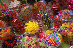 Candy buffet at my party ? Glow Party, Candy Party, Luau Party, Candy Table, Candy Buffet, Colorful Candy, Candy Colors, Sweet 16 Parties, Dessert Buffet