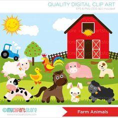 Clip Art Farm Animal Clip Art Cute Farm Animals Clip Art Farm Animal - Clipart Suggest Baby Farm Animals, Safari Animals, Wild Animals, Sheep Pig, Farm Art, Animal Design, Art Pictures, Animal Pictures, Dogs And Puppies