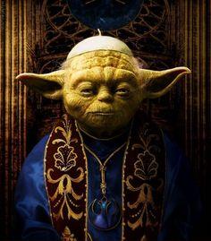 Awesome Yoda Pope !