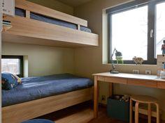 no Bunk Beds, Small Bedrooms, Furniture, Home Decor, Double Bunk Beds, Narrow Bedroom, Interior Design, Home Interior Design, Small Space Bedroom