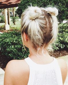 Who doesn\'t love cute little space buns? Lol these are so fun  #milabu09…