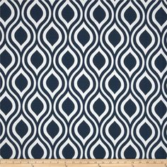 Nicole Slub Premier Navy and White Curtains 25 x 63 by SewPanache