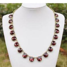 "Fuchsia pink statement necklace NWOT Fuchsia pink statement necklace.  ""Price firm"" Jewelry Necklaces"