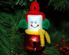 Girls of all ages can put together this Jingle Bell Snowman ornament