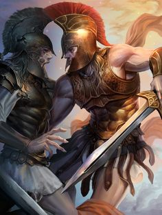 Get up, warrior. by 재문 윤 on ArtStation. Greek And Roman Mythology, Greek Gods, Fantasy Armor, Medieval Fantasy, Character Inspiration, Character Art, Samurai, Spartan Tattoo, Roman Warriors