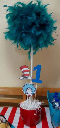 Cat in the Hat Birthday Party Ideas | Photo 9 of 36 | Catch My Party