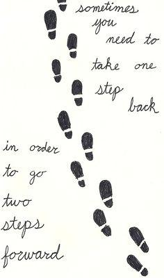 one step back...two steps forward