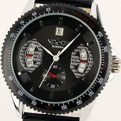 Brand New Gents Men Automatic Wrist Watch Black Leather Strap & Dial WM121 ESS, http://www.amazon.com/dp/B005GDE3Y0/ref=cm_sw_r_pi_dp_ZojDqb150P9NY