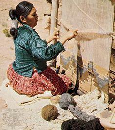 navajo rug weaver :) love her hair!!!