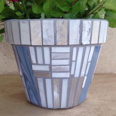 Another new design. Handmade mosaic planters make great forever gift for the plant lover in your life!