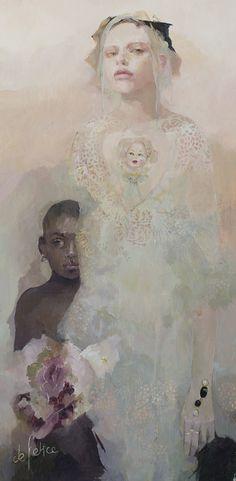 La gardienne des rêves, Huile sur toile de Françoise de Felice, 2017