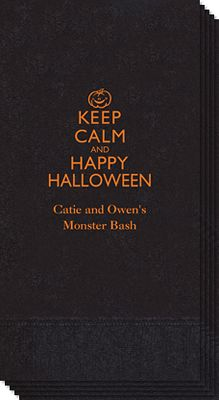 Keep Calm and Happy Halloween Guest Towels