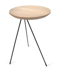 Bias Side Table from Invisible City in solid European Oak