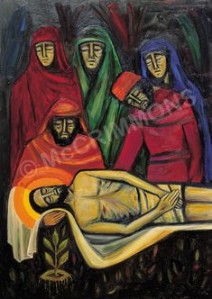 14. Jesus is laid in the tomb by The Benedictine Sisters of Turvey Abbey #Lent