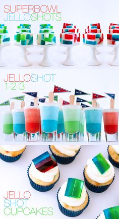 Game Day Jelly Shots!  http://jelly-shot-test-kitchen.blogspot.com