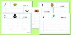 Apprendre à écrire les lettres - Tracer l'alphabet en maternelle