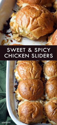These Sweet and Spicy Chicken Sliders are perfect for lunch, dinner, parties, or game day. Total crowd pleaser!
