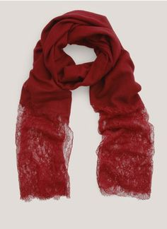 Valentino Lace-and-cashmere scarf