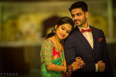 wedding couple Check out bridal portraits from Anusha and Savans wedding by Ganesh Photography Indian Wedding Pictures, Indian Wedding Poses, Wedding Couple Pictures, Indian Wedding Couple Photography, Wedding Picture Poses, Couple Photography Poses, Indian Engagement Photos, Indian Wedding Receptions, Wedding Ring Photography