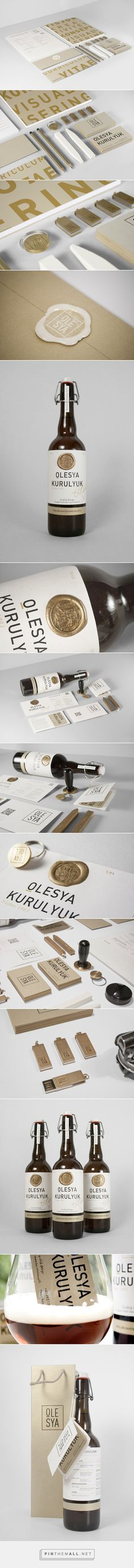 Self promotion on Behance by designer Olesya Kurulyuk curated by Packaging Diva PD. How cool is this personal packaging and branding campaign?