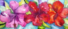 Hibiscus Colour - By Watercolour Artist Sherren MacLeod