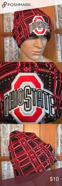 The Ohio State Buckeyes Embroidered Cap NWOT 85% acrylic 15% nylon. Unisex. One size fits most. Excellent condition and comes from my non smoking home Accessories Hats
