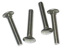 3//8-16 x 6 Coarse Thread A307 Grade A Carriage Bolt Low Carbon Steel Hot Dip Galvanized Pk 50 FT