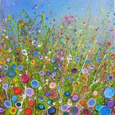 Fairy Land by Yvonne Coomber, via Sarah Duecker Glitter Kunst, Glitter Art, Alcohol Ink Art, Button Art, Art For Art Sake, Abstract Flowers, Art And Illustration, Painting Inspiration, Art Images