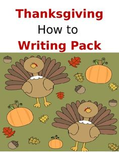 <p>This Thanksgiving writing pack has 10 worksheets where students write what happens first, next, and last. Writing topics are:</p> <p>*How to Cook A Turkey</p> <p>*How to Make a Turkey Bark</p> <p>*How to Disguise A Turkey</p> <p>*How To Make A Pumpkin Pie</p> <p>*How to Convince Your Mom to Make
