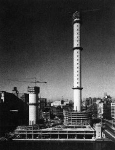 Bertrand Goldberg, Marina City, Under Construction, Chicago, Illinois, 1959