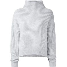 Le Kasha 'Veribier' cashmere jumper (1 085 AUD) ❤ liked on Polyvore featuring tops, sweaters, jumpers, shirts, grey, cashmere tops, grey shirt, jumper shirt, grey cashmere sweater and grey jumper