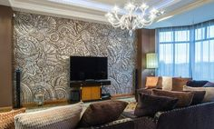 Die Wohnzimmerwände Ideen Sind Zahlreich Und Man Soll Sich Nircht Nur Mit  Der Wahl Einer Passenden Farbe Begrenzen.Sehen Sie Sich Diese Beispiele Für  Modern
