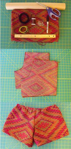 DIY Cute Printed Shorts Tutorial