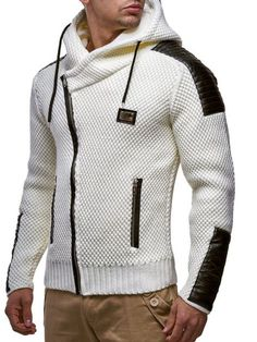 LEIF NELSON Men s Knitted Jacket 5015  Size L c5d0521bec