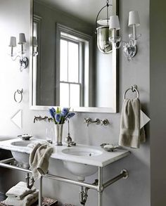 Click Pic for 30 Small Bathroom Ideas on a Budget | Washbasin with Towel Bars | DIY Small Bathroom Remodel
