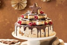 Honeycomb ice-cream cake with shortbread stars and other non traditional Christmas desserts