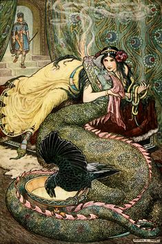 Marina lay upon a couch…and fondled a fiery dragon with her right hand. Frank Pape Cheyne